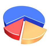 4 stück graph kuchen — Stockfoto