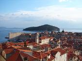 Dubrovnik zicht vanaf de stadsmuur — Stockfoto