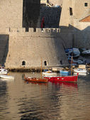 Dubrovnik city harbour — Stock Photo