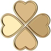 Gold 4 leaves clover — Stock Photo
