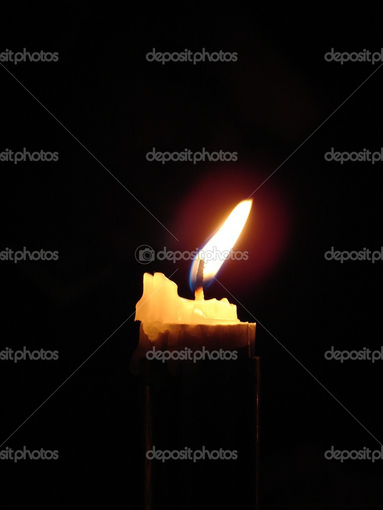 Candle on dark background — Stock Photo #3737828