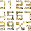Royalty-Free Stock Photo: Golden 3D numbers