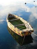 Anchored boat — Stock Photo