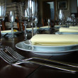 Stock Photo: Dinner table detail