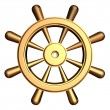Ship's steering wheel — Stock Photo