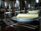 Dinner table detail — Stock Photo