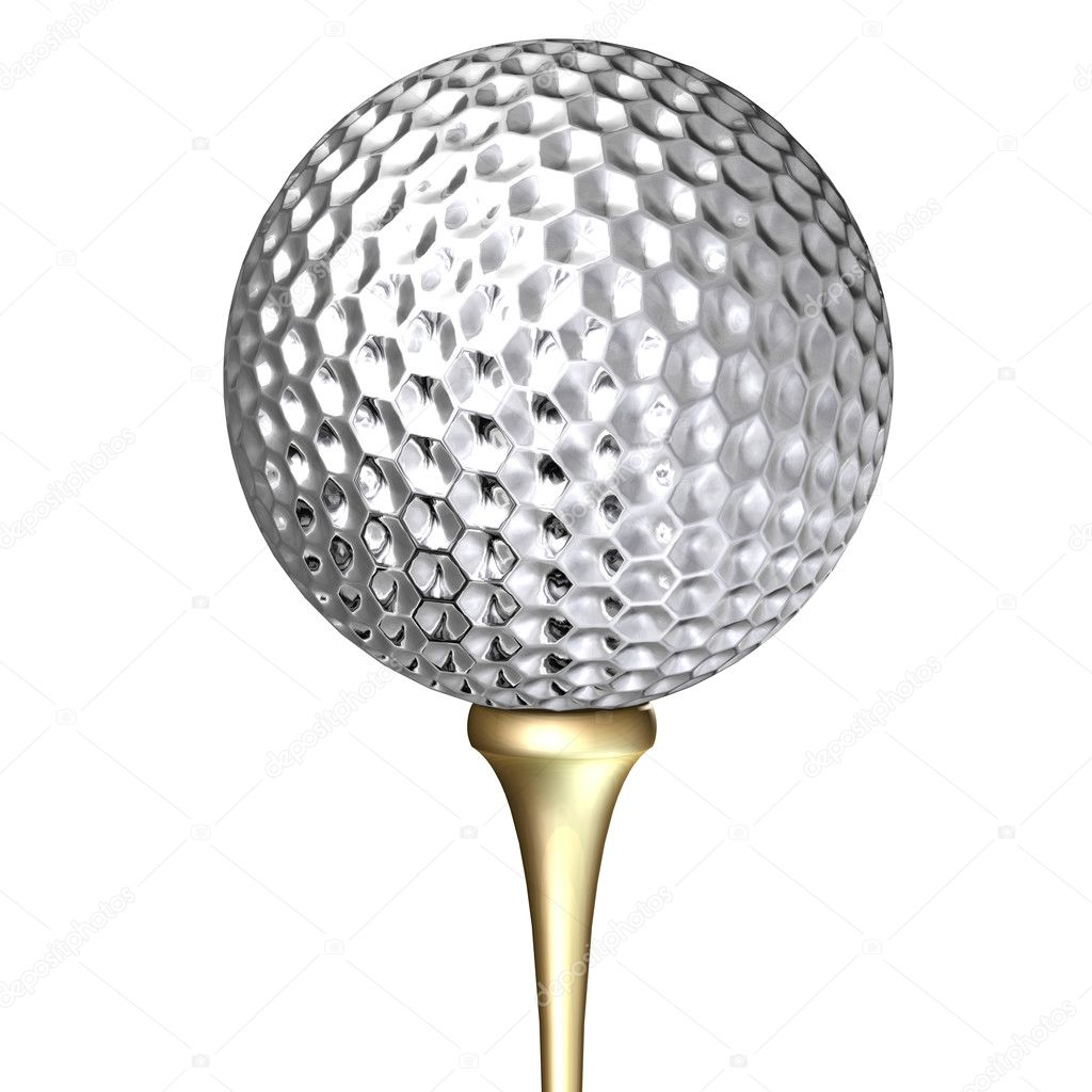 metal golf ball stock photo tomisl z 3900077. Black Bedroom Furniture Sets. Home Design Ideas