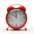 Red alarm clock — Stock fotografie