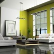 Home interior with sofas — Stockfoto