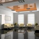 Office interior 3D rendering — Stock Photo
