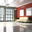 Stock Photo: Office interior 3D rendering