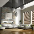 Stock Photo: Home interior 3D rendering