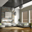 Foto de Stock  : Home interior 3D rendering