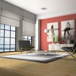 Home interior 3D rendering — Stock Photo