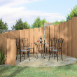 Arbor with furnitures in sunny day - Stock Photo