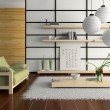 Home interior in japanese style — Stock Photo