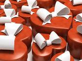许多礼品盒-情侣 — 图库照片