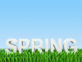 "White word ""spring"" — Stock Photo"