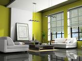 Casa interior con sofás — Foto de Stock