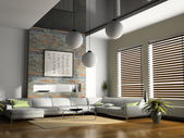 Casa interior render 3d — Foto de Stock