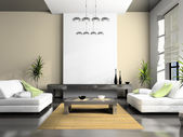 Home interior 3D rendering — Foto de Stock
