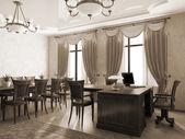 Office interior in monochrome — Fotografia Stock