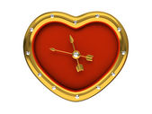 Red Clock-Heart — Stock Photo