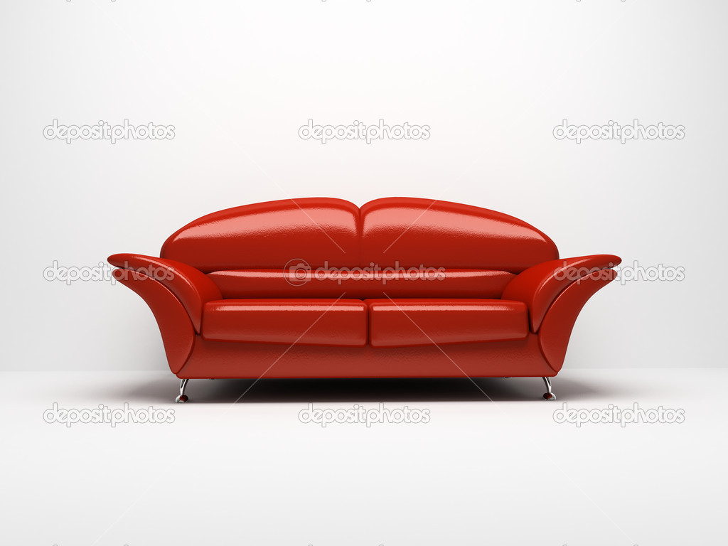 Red sofa isolated on white background stock photo hemul75 2765454 - Red and white sofa ...