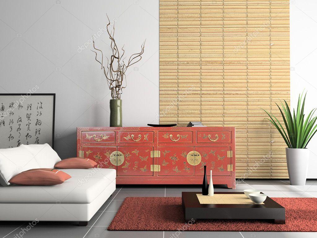 Heminredning med kinesiska möbler — stockfotografi © hemul75 #2767323