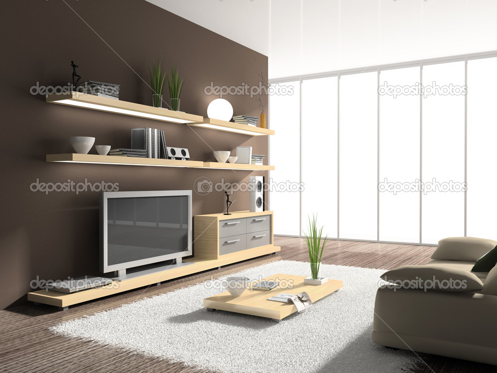 Interior of modern drawing room stock photo hemul75 for Modern drawing room interior