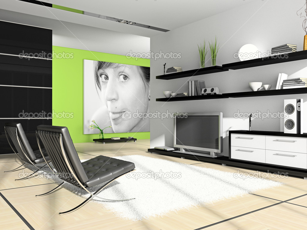 Home Interior 3d Rendering Photo On Wall Was Made By Me I Uploaded Model S Release Photo By Hemul75