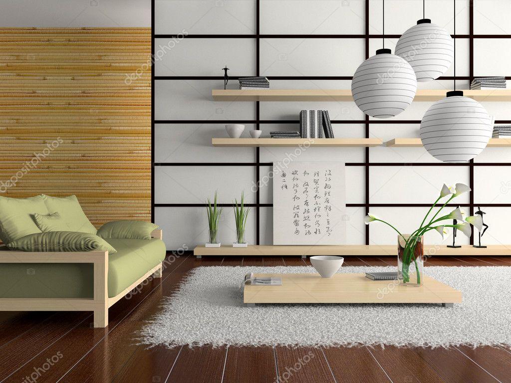 Interieur in japanse stijl stockfoto hemul75 2768386 for Japanse stijl interieur