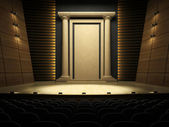 Empty stage in expectation of performance — Stock Photo