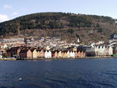 Bergen harbour — Stock Photo