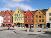 Houses at bryggen Bergen — Stock Photo