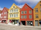 Houses in bergen — Stock Photo