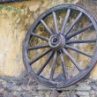 Rustic Wagon Wheel - Stock Photo