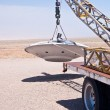 Alien Spacecraft on Tow Truck — Stock Photo