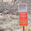 Warning Area 51! — Stock Photo