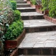 Stock Photo: Garden Footpath