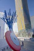 Typewriter Eraser and Skyline — Stock Photo
