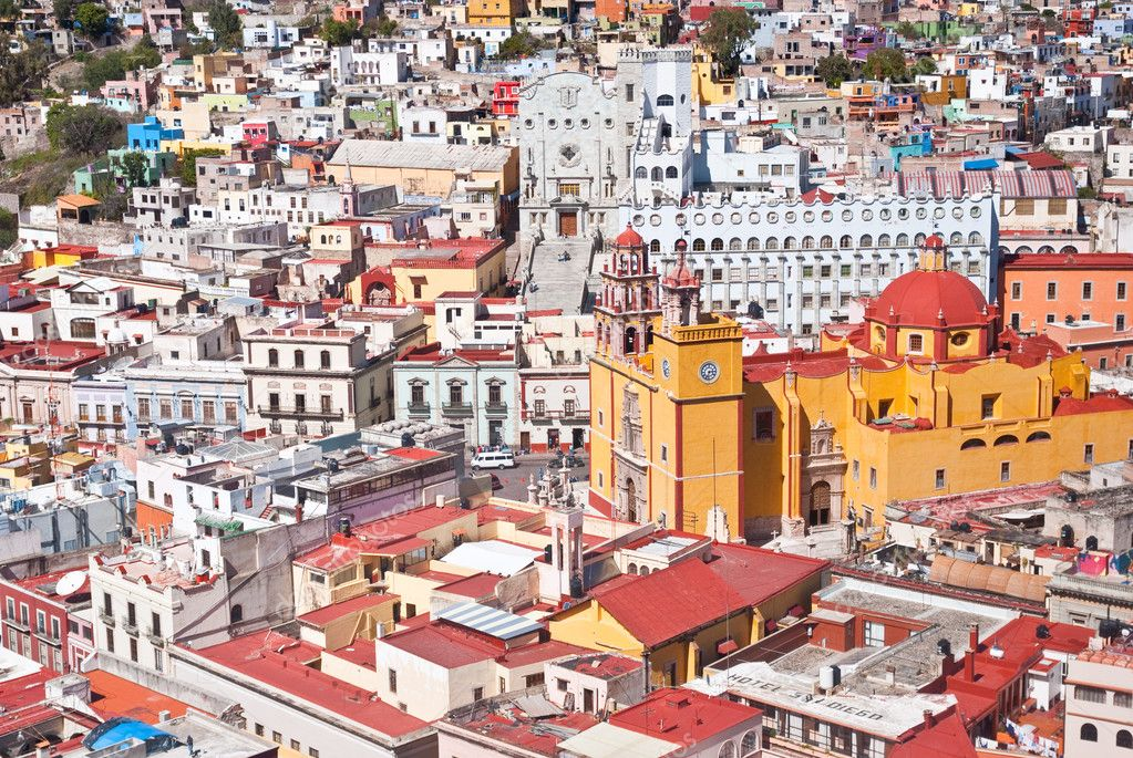 Panoramic vista of colorful buildings in Guanajuato Mexico  Stock Photo #2922712