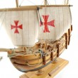 Wooden ship - miniature of Santa Maria — Stock Photo