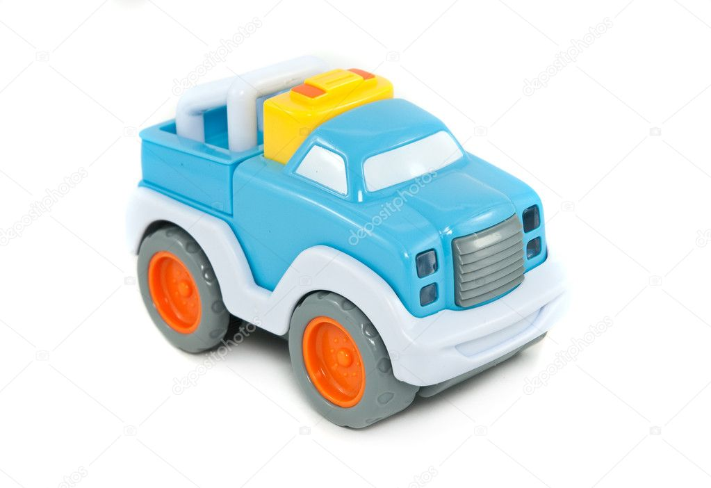 Small toy car isolated on white background — Stok fotoğraf #2757668