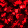 Heart shining bokeh — Stock Photo