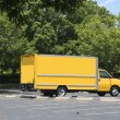 Yellow Box Truck — Stock Photo