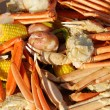 Crab leg picnic — Stock Photo