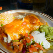 Close up on a Mexican Dish - Burrito — Stock Photo