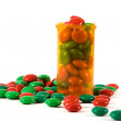 Medicine Bottle filled with Candy — Stock Photo #2714231