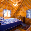 Close up on a Bedroom in a Cabin — Foto Stock